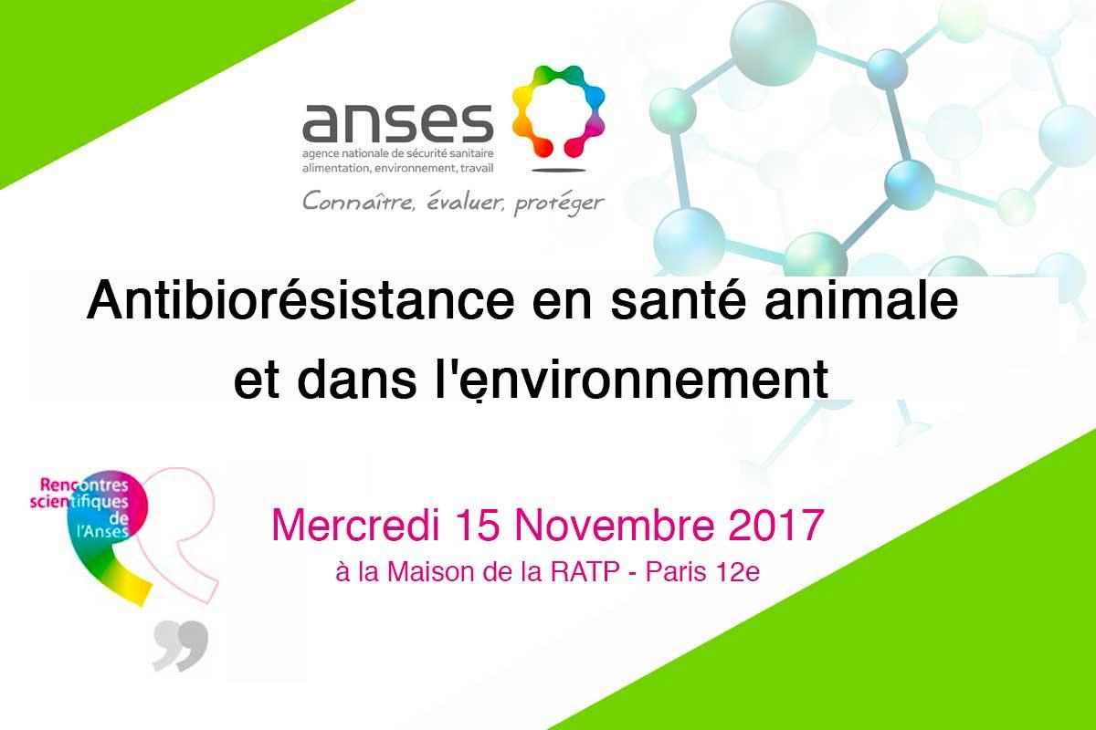Rencontres Scientifiques De L'Anses / Antibiorésistance En Santé Animale  Et Dansl'environnement
