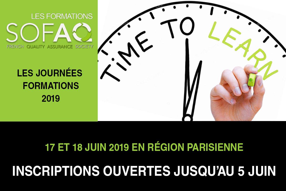 Les Journées FORMATIONS SOFAQ 2019 / 17 Et 18 Juin